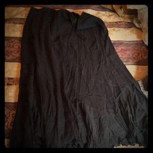 Black Pirate Maxi skirt